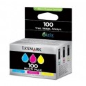 Lexmark 100 cyan, jaune, magenta Cartouches d'encre d'origine