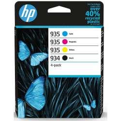 Cartouches d'Encre HP 934 Noir + HP 935 Cyan, jaune, magenta