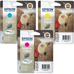 Epson T0612/T0613/T0614 Cyan/magenta/jaune - Pack de 3 cartouches