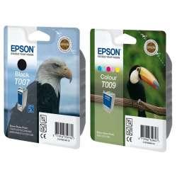Pack Epson T007 noir T009 Couleur Cartouches d'encre d'origine