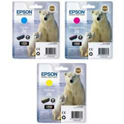 EPSON T26 Multipack X 3 - cyan, magenta, jaune - Ours polaire