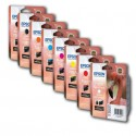 Epson UltraChrome Hi-Gloss 2 Multipack pour Stylus Photo R1900 - Cartouches d'encre d'origine - T0870 T0871 T0872 T0873 T0874 T0