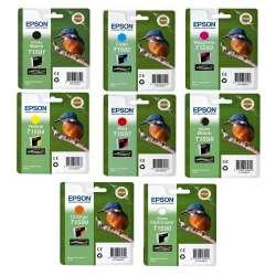 Epson Lot de 8cartouches d'encre T1590à T1599 pour imprimante StylusR2000