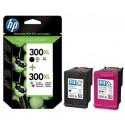HP 300Xl Noir / 300Xl Couleur Cartouches d'encre d'origine