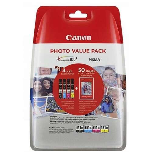 Canon CLI-551XL noir, jaune, cyan, magenta Multipack