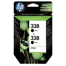 HP 338 noir Cartouches d'encre d'origine Pack de 2