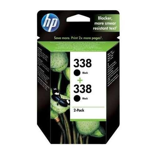 HP 338 noir Cartouches d'encre d'origine Pack de 2 (CB331EE)