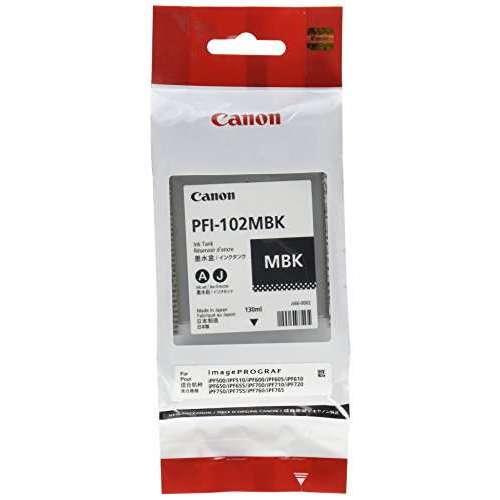 Canon LUCIA PFI-102 MBK Cartouche d'encre d'origine 1 x noir mat pigmenté