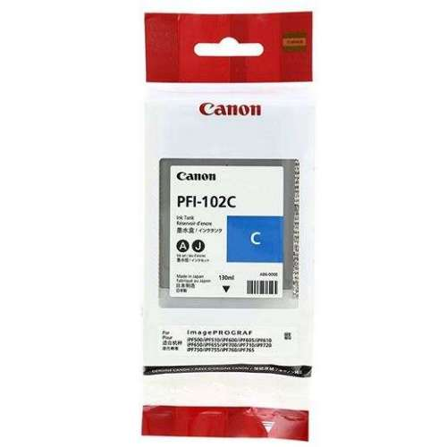 Canon LUCIA PFI-102C Cyan Cartouche d'encre d'origine