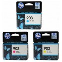 HP 903 Cyan/Magenta/Jaune cartouches d'encre pour Imprimante HP Officejet 6950, HP Officejet PRO 6960 6970