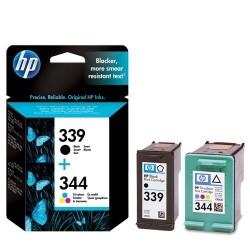 HP 339/344 noir couleur Cartouches d'encre d'origine Pack de 2