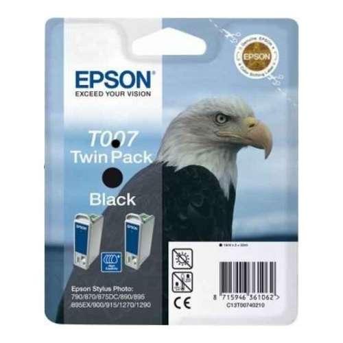 Epson T007 Twin pack noir Cartouches d'encre d'origine au prix le moins cher sur promos-boutique.com