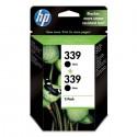 HP 339 Cartouche d'encre d'origine Pack de 2 Noir