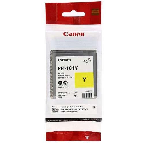 Canon LUCIA PFI-101Y Jaune Réservoir d'encre d'origine au meilleur au prix sur promos-boutique.com
