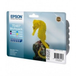 Epson Multipack T0487 noir, jaune, cyan, magenta, magenta clair, cyan clair