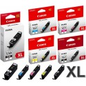 Canon PGI 550 XL / CLI 551 noir, Jaune, cyan, magenta