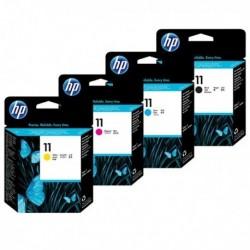 HP 11 Tête d'impression - Pack de 4 au prix le moins cher sur promos-boutique.com