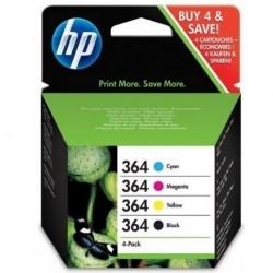 HP 364 Pack de 4 cartouches d'encre Noir Cyan Magenta Jaune au prix le plus bas sur promos-boutique.com