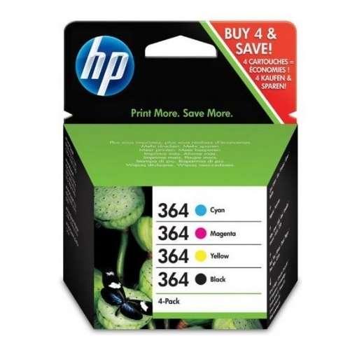 HP 364 Pack de 4 cartouches d'encre Noir Cyan Magenta Jaune
