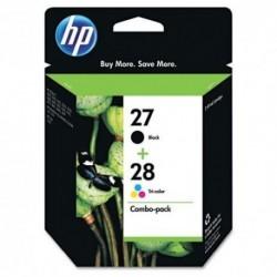 HP n° 27 + n° 28 Lot de 2 cartouches d'encre