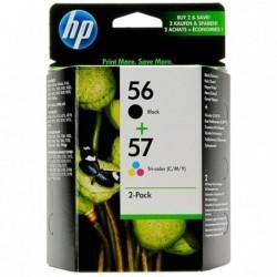 HP 56 / 57 d'origine Noir, couleur pack de 2 Cartouches