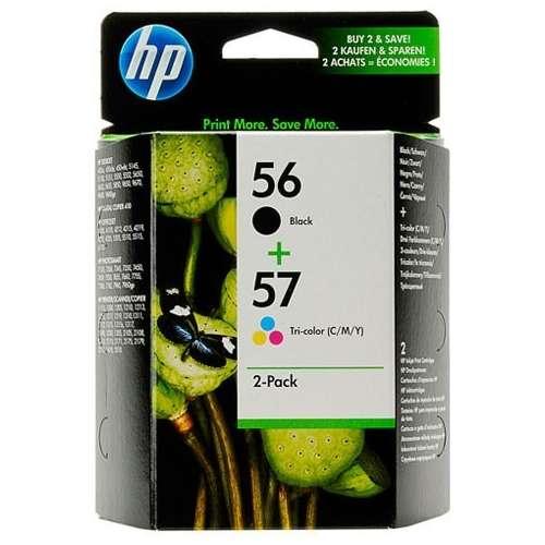 HP 56 / 57 Noir, couleur pack de 2 Cartouches