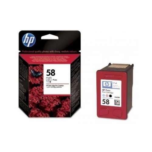 HP 58 Noir, magenta clair, cyan clair photo