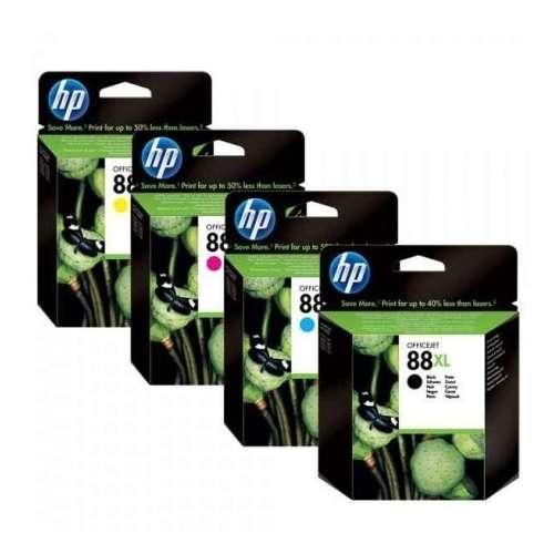 HP 88XL cyan, magenta, jaune, noir