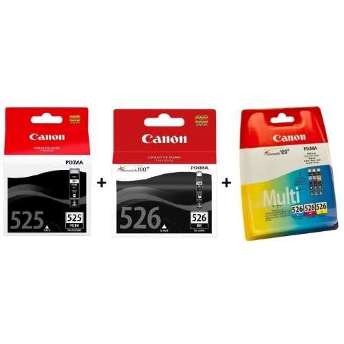 Canon PGI-525/CLI-526 noir, jaune, cyan, magenta