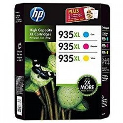 HP 935XL Cyan Magenta Jaune Lot de 3 cartouches couleur