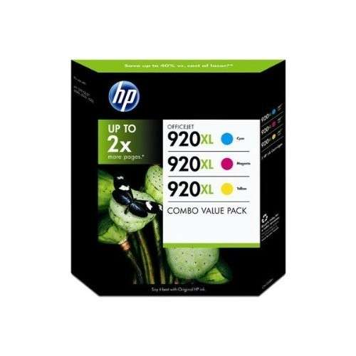 HP Officejet 920XL Cyan, Magenta, Jaune - Lot de 3 cartouches de couleur