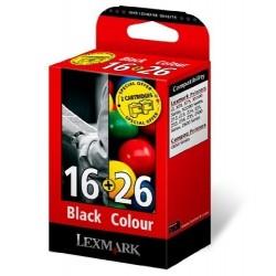 Lexmark Combo Pack 16 + 26 cyan, magenta, jaune Cartouche d'encre d'origine