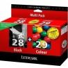 Lexmark Combo Pack 28 + 29 cyan, magenta, jaune Cartouche d'encre d'origine