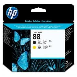 HP 88 noir, jaune tête d'impression d'origine