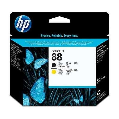 HP 88 noir, jaune tête d'impression