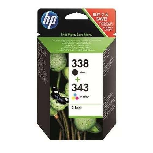 HP 338/343 Lot de 2 Cartouches d'encre noir couleur (SD449EE)