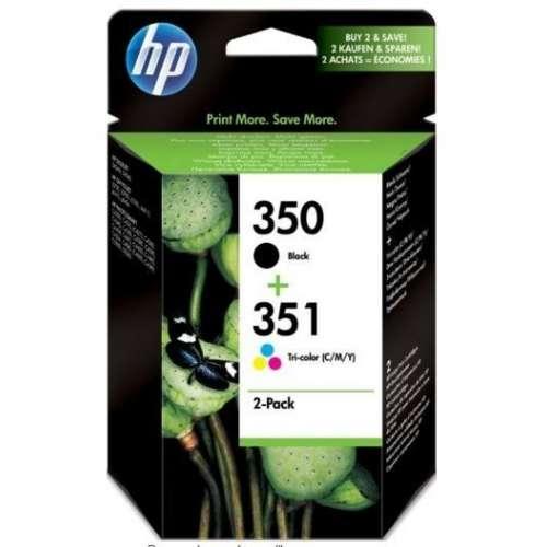HP 350/351 Cartouches d'encre Noir, Cyan, Magenta, Jaune - SD412EE