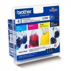 Brother LC980 noir, jaune, cyan, magenta