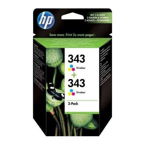 HP 343 Cyan Magenta Jaune Cartouches d'encre d'origine