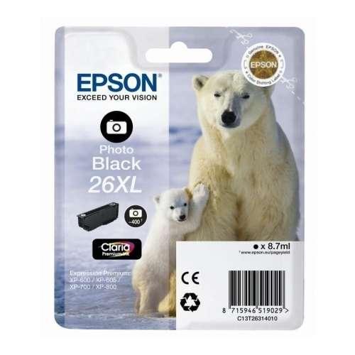 Epson 26XL photo noir Cartouche d'encre d'origine