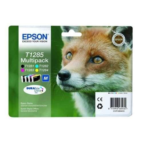 EPSON Multipack Renard T1285 Noir, Cyan, Magenta, Jaune au prix le moins cher sur promos-boutique.com