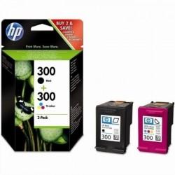 HP 300 Lot de 2 Cartouches d'encre noir, cyan, magenta, jaune (CN637EE)