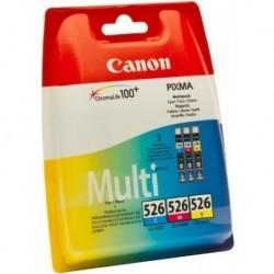 Canon CLI-526 Cyan, Magenta, Jaune Cartouche d'Encre d'Origine - Pack de 3