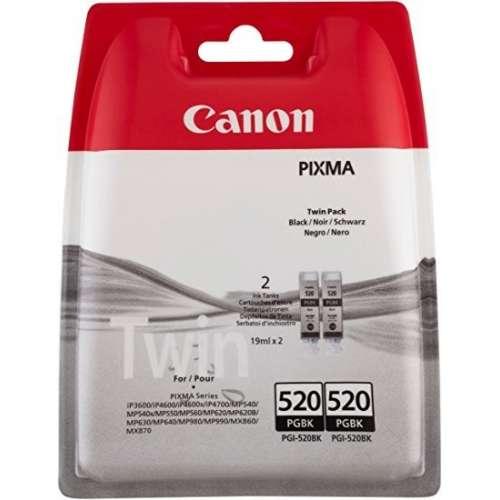Canon PG-520 PGBK noir Pack de 2 cartouches pour Imprimante jet d'encre iP3600/MX870