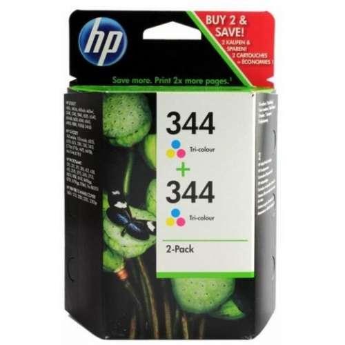HP 344 Cyan Magenta Jaune Cartouches d'encre d'origine Pack de 2
