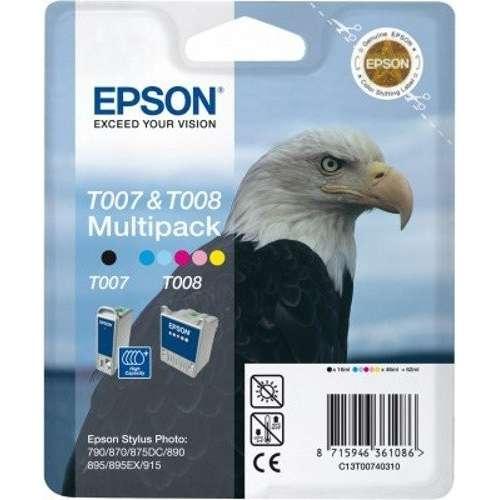 Epson Multipack T007 et T008 noir, couleur