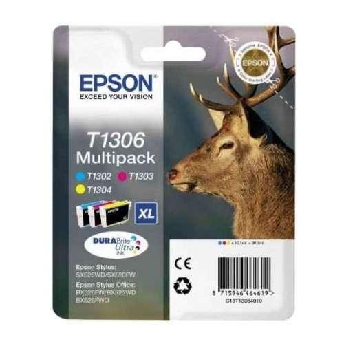 EPSON Multipack Cerf T1306 cyan, magenta et jaune