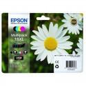 EPSON Multipack Pâquerette T1816 : cartouches noir XL, cyan XL, magenta XL, jaune XL