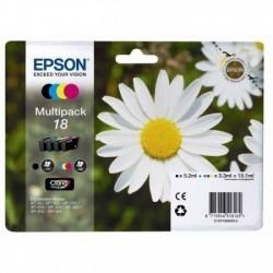 Epson 18 noir, couleur Multipack Cartouches d'encre