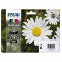 Epson 18 noir, couleur Multipack C13T18064022 Cartouches d'encre